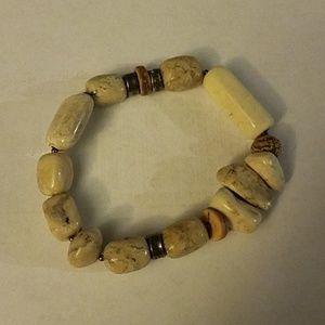 Silpada sterling stone stretch bracelet